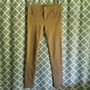 Vince Riding Ponte Stretch Skinny Pants in Camel